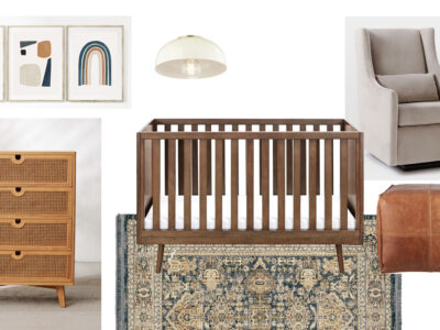 Gender Neutral Navy and Rust Nursery Design