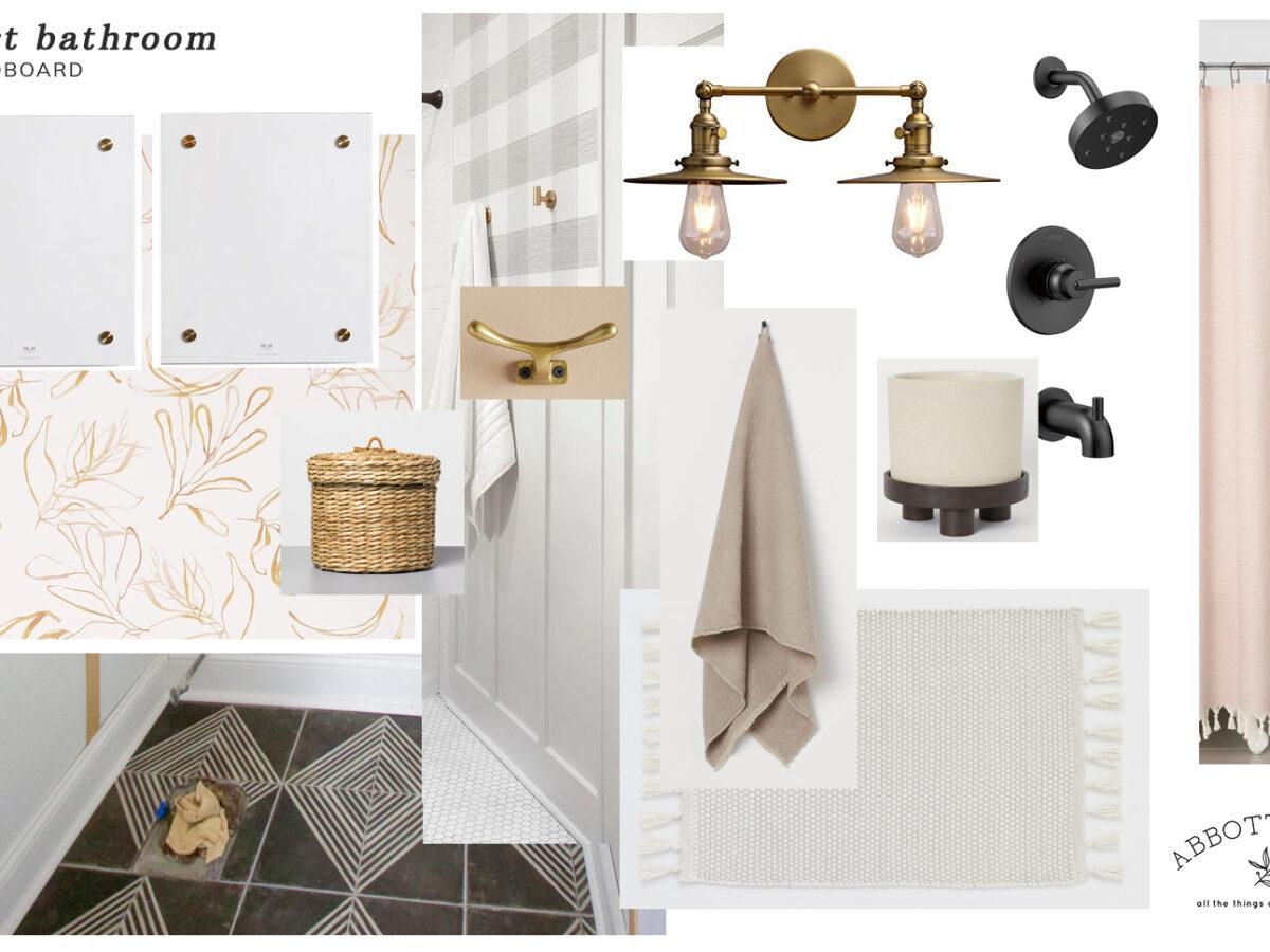 Moodboard: Guest Bathroom Refresh & Design Plan